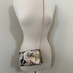 Ted Baker chain crossbody clutch floral print